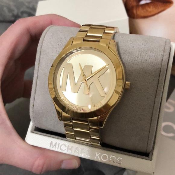 a9c30e910e79 Michael kors accessories logo watch poshmark jpg 580x580 Mk logo watch